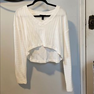 forever 21 cropped high low sweater